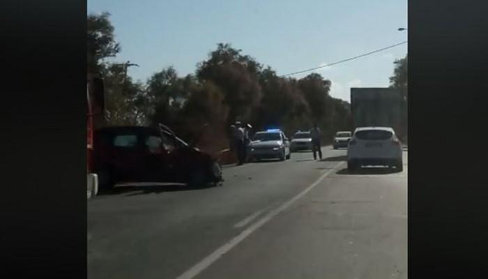 Τροχαίο ατύχημα το πρωί στη Γεωργιούπολη Χανίων (βίντεο)