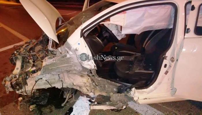 Απίστευτο τροχαίο ατύχημα στον κόμβο του Γαλατά στον ΒΟΑΚ (φωτο)