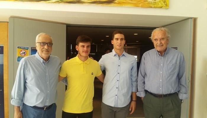 Η ANEK τίμησε τους δυο Χανιώτες πρωταθλητές που τίμησαν τα Χανιά και την Ελλάδα
