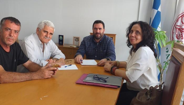 Αντιπροσωπεία της Ηράκλειας Πρωτοβουλίας με τον κ. Σισαμάκη