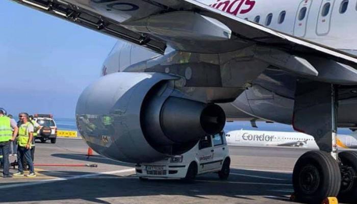 Απίστευτο! Αεροπλάνο τράκαρε όχημα στο αεροδρόμιο Ηρακλείου (φωτο)