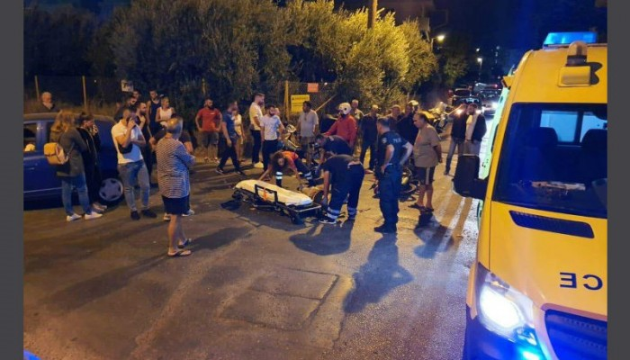 Κρήτη: Σοβαρός τραυματισμός διανομέα σε τροχαίο μετά από σύγκρουση με ΙΧ