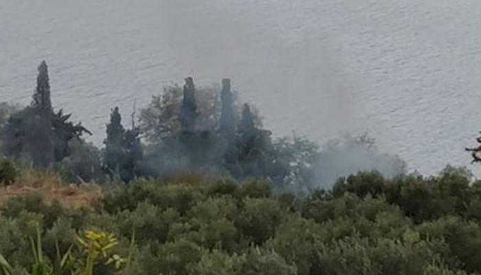 Πυρκαγιά στα Μεγάλα Χωράφια στα Χανιά (φωτο)