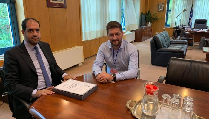Στην Αθήνα με τον Υφυπουργό Υποδομών ο Μενέλαος Μποκέας
