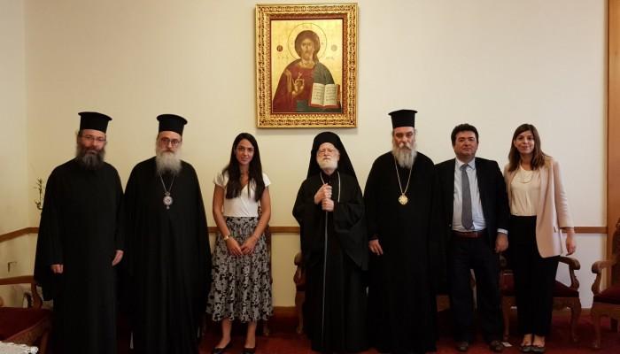 Στην Αρχιεπισκοπή Κρήτης η Υφυπουργός Δόμνα Μιχαηλίδου