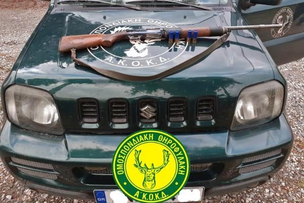 Σύλληψη για κυνήγι χωρίς άδεια στο Λιβάδι Κρουσώνα