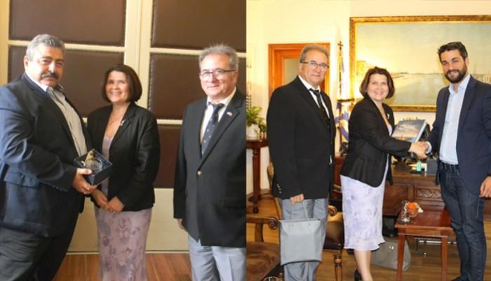 Στον αντιπεριφερειάρχη και τον δήμαρχο Χανίων η πρέσβης της Σλοβακίας στην Ελλάδα