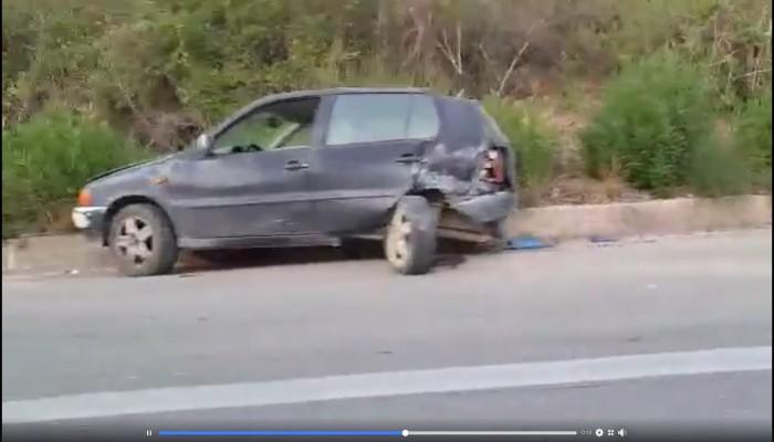 Σύγκρουση δύο οχημάτων στην εθνική οδό Χανίων - Ρεθύμνου (βίντεο)