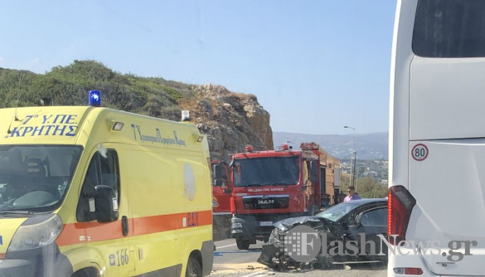 Θανατηφόρο τροχαίο στην Κρήτη μετά από μετωπική σύγκρουση δυο αυτοκινήτων (βίντεο + φωτο)