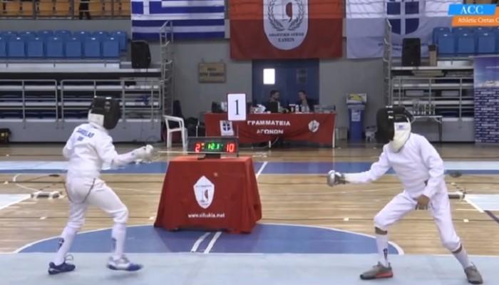 Πλάνα από το Κύπελλο Ξιφασκίας στα Χανιά (βίντεο)