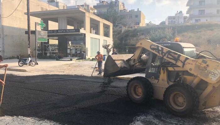 Ολοκληρώθηκαν εργασίες ασφαλτόστρωσης στην Αμμουδάρα