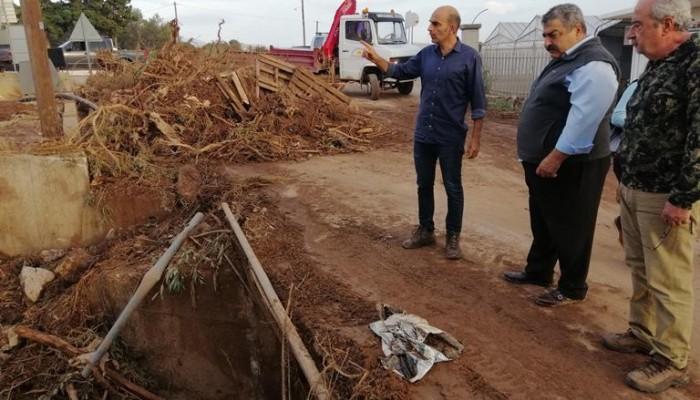 Κατέγραψαν τις καταστροφές στις πληγείσες περιοχές του Δήμου Καντάνου Σελίνου (φωτο)