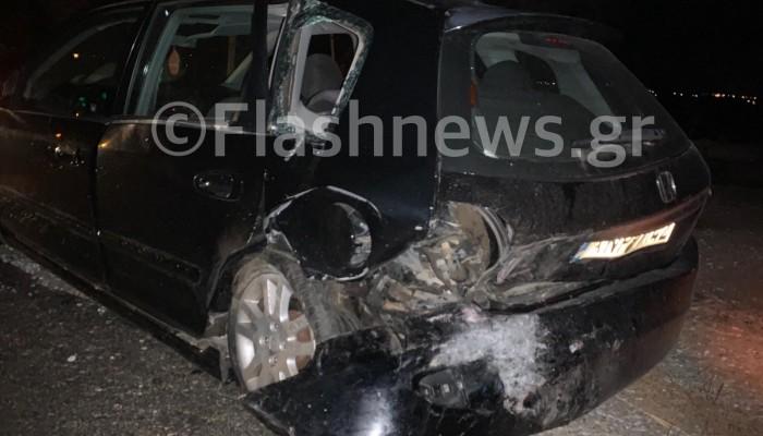 Τροχαίο ατύχημα με τραυματισμό στην εθνική οδό Χανίων - Ρεθύμνου στο Πλατάνι (φωτο)