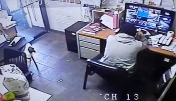 Σκύλος σέρνει την καρέκλα του και παίρνει θέση δίπλα στο αφεντικό του (Βίντεο)