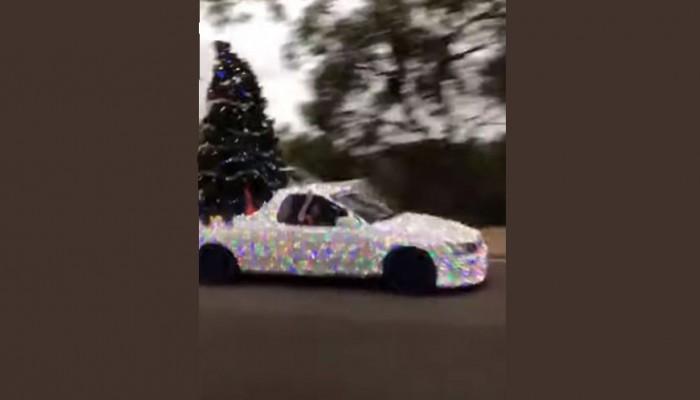 Ένα αυτοκινούμενο χριστουγεννιάτικο δέντρο (Βίντεο)