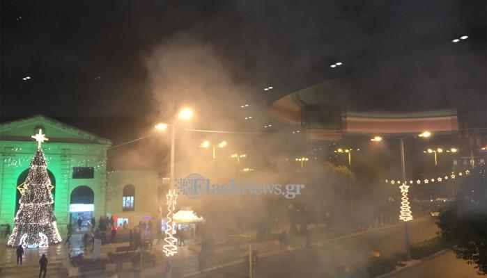 Μικροένταση στο κέντρο των Χανίων μετά την πορεία για τον Αλέξη Γρηγορόπουλο
