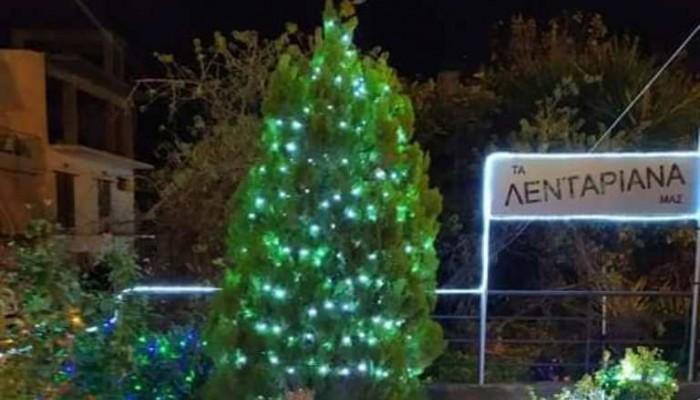 Τα Λενταριανά άναψαν το χριστουγεννιάτικο δέντρο τους και το διασκέδασαν (Φώτο)