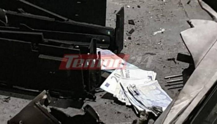 Γέμισε με 20ευρα δρόμος στην Πάτρα από επίθεση σε ΑΤΜ