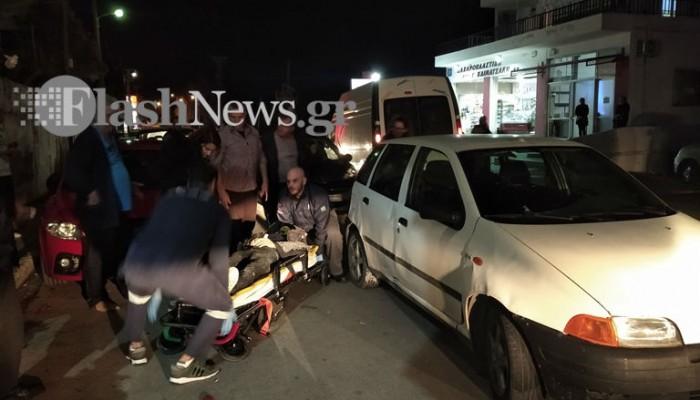 Τροχαίο με σοβαρό τραυματισμό στα Χανιά (φωτο)