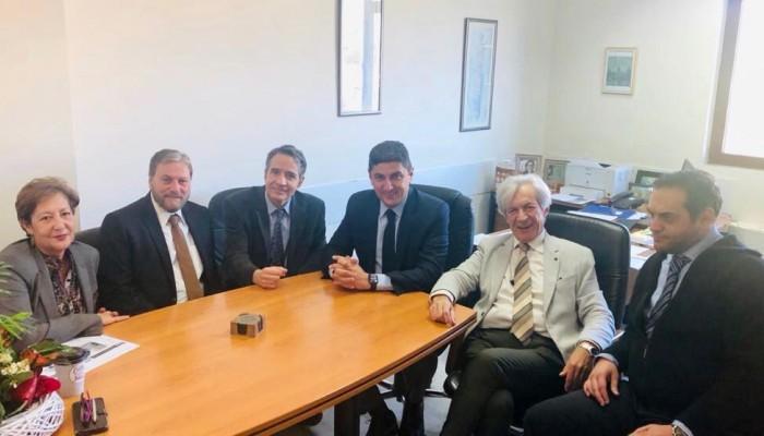Συνάντηση Αυγενάκη με τους νέους διοικητές ΠΑΓΝΗ, Βενιζελείου