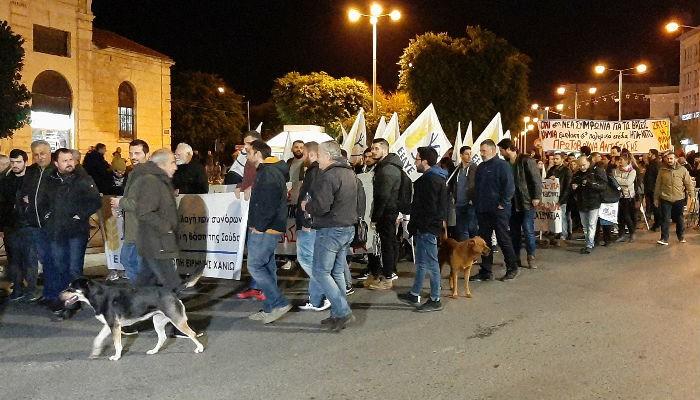 Χανιά: Συλλαλητήριο κατά της ελληνοαμερικανικής συμφωνίας (φωτο – βίντεο)