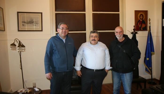 Ο νεοεκλεγείς Πρόεδρος του ΕΑΚ Χανίων συναντήθηκε με τον Νίκο Καλογερή