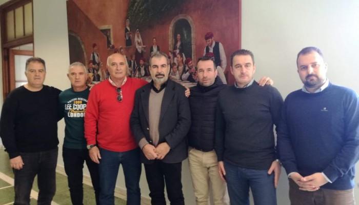 Επίσκεψη στον Αντιδήμαρχο Αθλητισμού από προπονητές