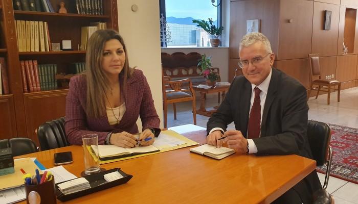 Επί τάπητος τα προβλήματα της εκπαίδευσης του νομού στη συνάντηση Βολουδάκη - Ζαχαράκη