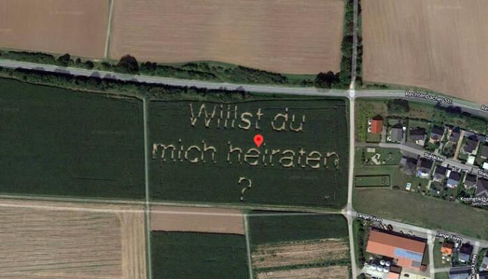 Η επική πρόταση γάμου που έκανε ένας Γερμανός αγρότης