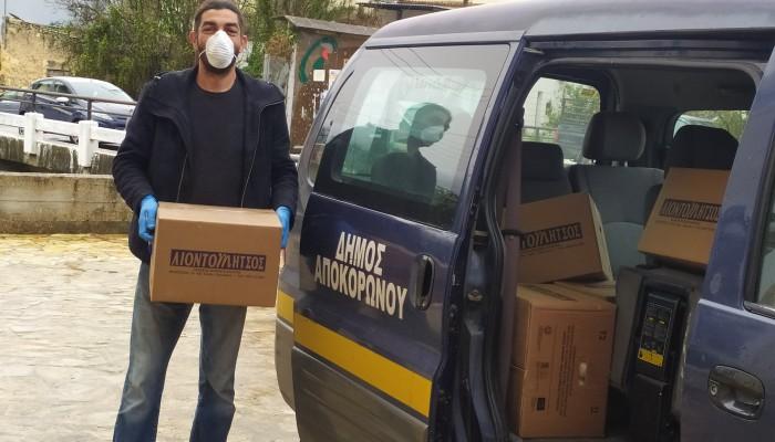 Διανομή κατ'οίκον για τους ωφελούμενους ΤΕΒΑ από τον Δήμο Αποκορώνου