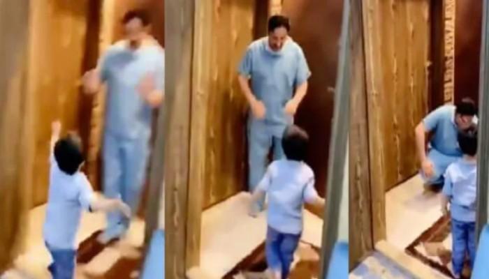 Γιατρός ξεσπά σε κλάματα όταν γυρνώντας στο σπίτι δεν αφήνει τον γιο του να τον αγκαλιάσει