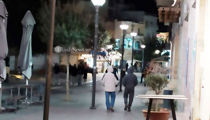 Έκαναν τις βόλτες τους στο κέντρο του Ηρακλείου σαν να μην τρέχει...τίποτε (φώτο)