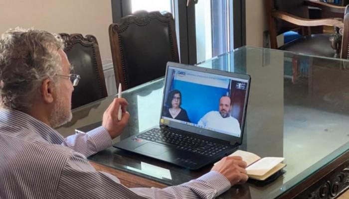 Τηλεδιάσκεψη για κατάρτιση εργαζομένων στον ΟΑΕΔ & θέματα ξενοδ/λήλων είχε ο Μ. Βολουδάκης