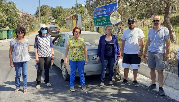 Επίσκεψη της Αντιπεριφερειάρχου Ρεθύμνης σε οδικά έργα περιοχών του Δήμου Ρεθύμνης