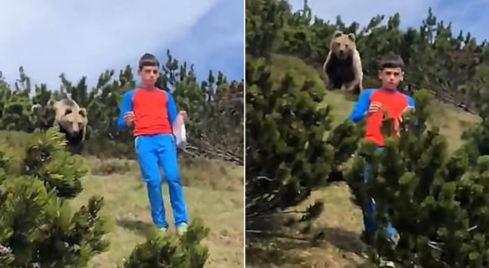 Ο πιο ψύχραιμος 12χρονος -Κατέβηκε λόφο ενώ τον ακολουθούσε αρκούδα (βιντεο)