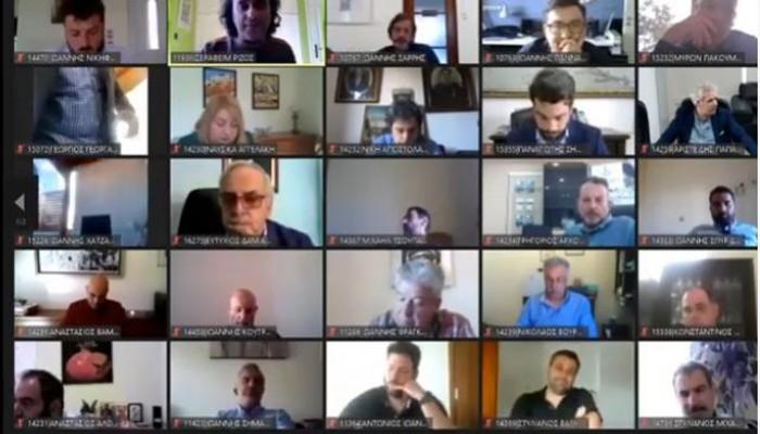 Δημοτικό συμβούλιο Χανίων σε τηλεδιάσκεψη: