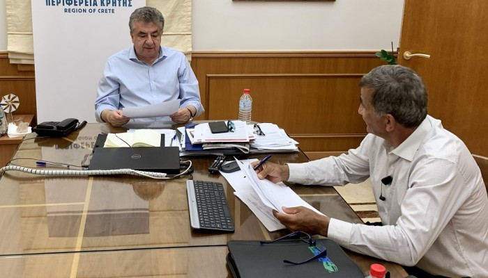Σύσκεψη Περιφερειάρχη Κρήτης με το Δήμαρχο Αμαρίου