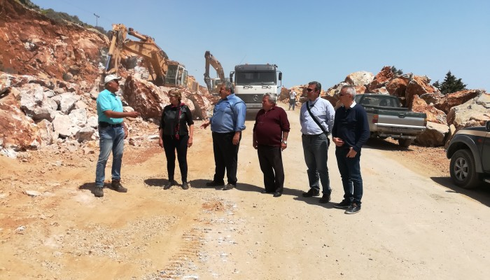 Επιθεώρηση Καλογερή στο έργο βελτίωσης του δρόμου Βρύσες - Χώρα Σφακίων