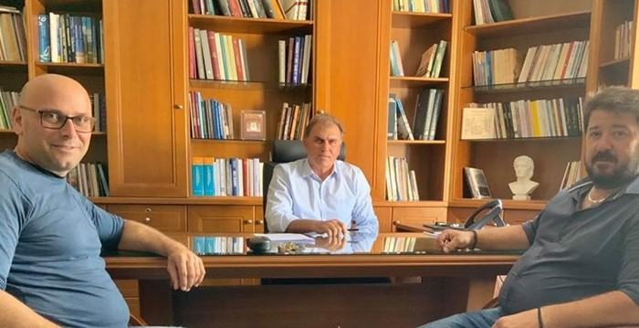 Συνάντηση του Δημάρχου Ιεράπετρας με τον πρόεδρο του ενιαίου αγροτικού συλλόγου
