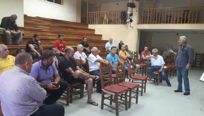 Συνάντηση στον Δήμο Κισσάμου με εργολάβους ψεκασμών και παγιδοθεσίας δακοκτονίας