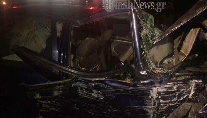Χανιά: Εγκλωβίστηκαν δύο άτομα σε τροχαίο στο Γεράνι