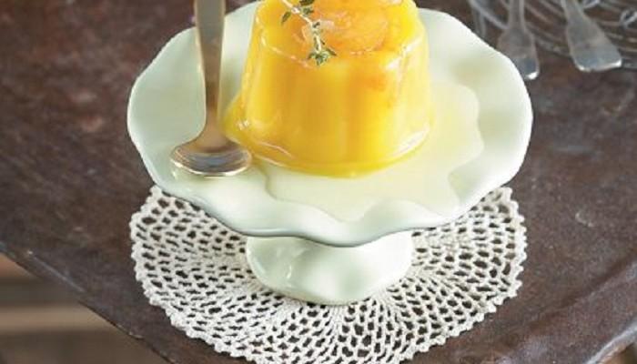 Ζελέ πορτοκάλι με σιρόπι πορτοκαλιού