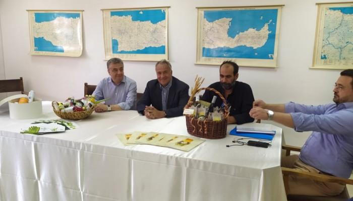 Στο Ηράκλειο ο Υπουργός Αγροτικής Ανάπτυξης, Μάκης Βορίδης