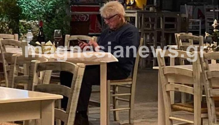 Χαλαρό δείπνο σε εστιατόριο του Πηλίου για τον πατέρα του Μπόρις Τζόνσον