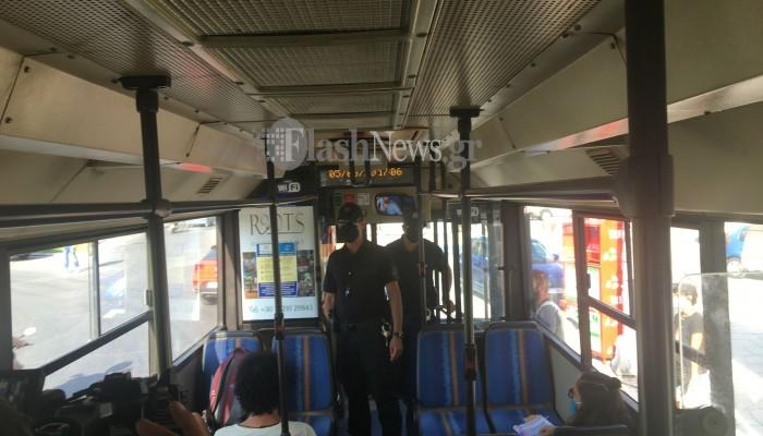 Αυστηροί έλεγχοι από την Αστυνομία για τη χρήση μάσκας στα Χανιά (φωτο)
