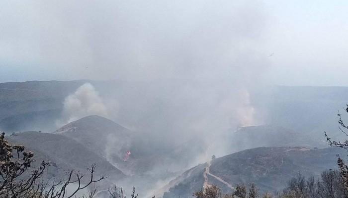 Σε πλήρη εξέλιξη η φωτιά στο Σέλινο - Ολονύχτια αναμένεται η μάχη με τις φλόγες (βίντεο)