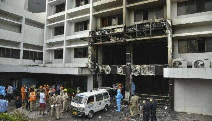 Ινδία: Επτά νεκροί από πυρκαγιά σε ξενοδοχείο φιλοξενίας κρουσμάτων κορονοϊού
