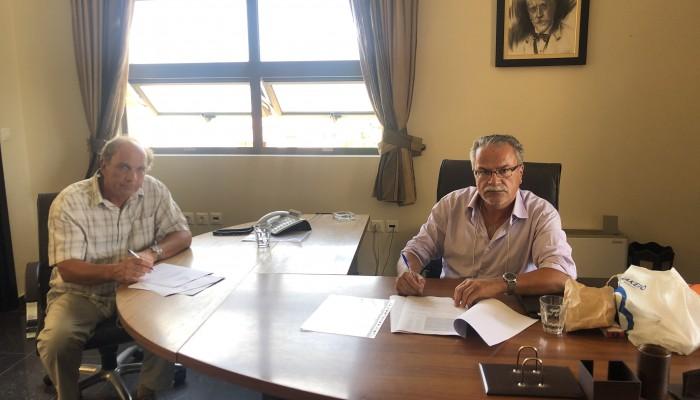 Υπογραφή Σύμβασης για αντιπλημμυρικά έργα του Δήμου Πλατανιά
