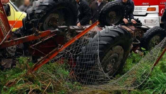Νεκρός αγρότης στην Κρήτη που έπεσε με το τρακτέρ του σε χαντάκι