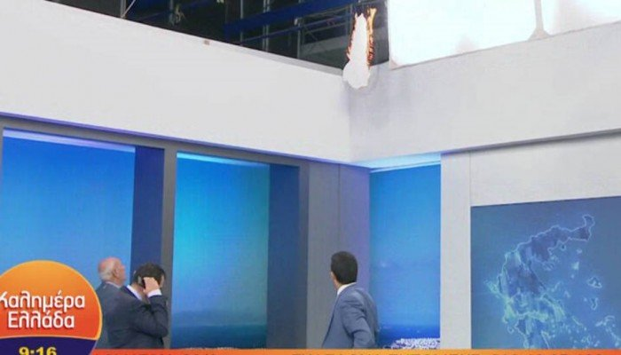 Πήρε φωτιά on air το στούντιο του Γιώργου Παπαδάκη - Δείτε βίντεο
